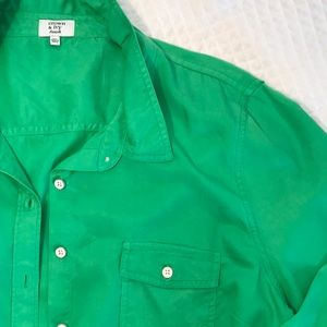 Apple Green button down